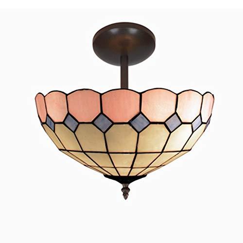 luci a LED per esterni Camera da letto minimalista moderna della lampada da soffitto macchiata 16inch, lampada di soffitto fatta a mano di vetro for la decorazione domestica luci LED per barche