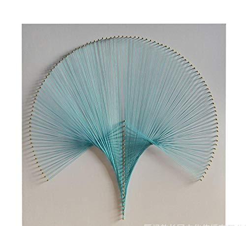 Paraplu geometrie DIY materiaal pakket kronkelende foto frameloze string zijde schilderij 40 * 40cm
