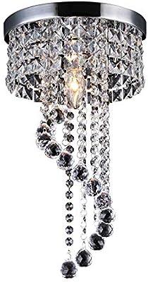 Modern Spiral Sphere Romantic Ceiling Lights Clear K9 Crystal Chandelier Light