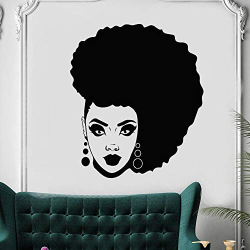 wZUN African American Black Wall Stickers Beauty Salon Home Decoration Vinyl Wall Decals Hairstyling Shop Artificial Decoration 50X43cm