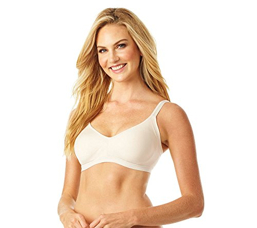 Warner's Women's Easy Does It No Bulge Wire-Free Bra, Butterscotch, L