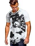 COOFANDY Mens Hipster Hip Hop Round Hemline Hole T Shirt Black