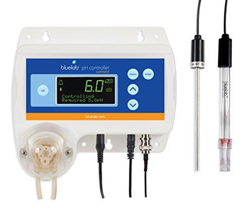 Bluelab pH controller Connect mit Clever Monitoring, Dosieren, und Daten Logging der Lösung PH Ebenen schließt Bluelab Connect Stick