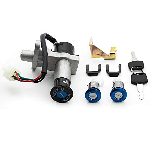 FXCNC Motorcycle 4-Holes 4-Wire Ignition Switch Lock With Keys Compatible with Scooter GY6 50cc 150cc