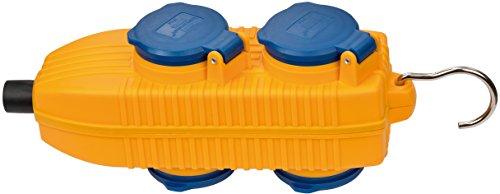 Brennenstuhl 1081070010 Steckdosen-Powerblock 230V/16A IP54 4-Fach, 230 V, gelb blau