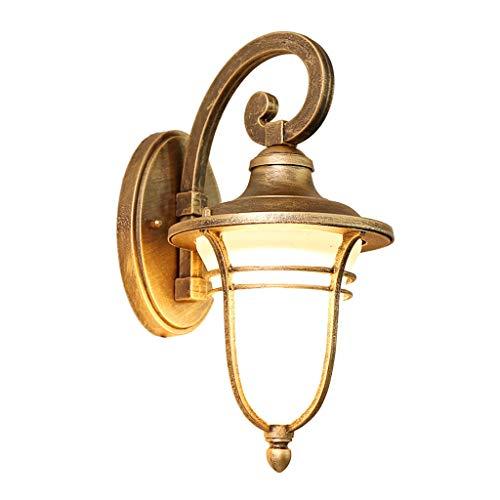Lámpara colgante de pared lámpara de pared de aluminio industrial retro - retro lámpara de pared impermeable al aire libre europea lámpara de jardín hogareño lámpara de pasillo de escalera(35.5x22cm)