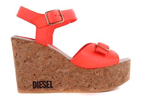 Diesel Damen Sandalen Plateau Wedge Pumps Orange #45 (38)