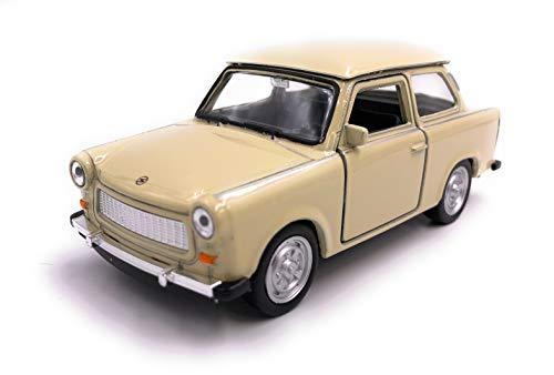 H-Customs Welly Trabant Trabi Modellauto Auto Lizenzprodukt 1:34-1:39 Ocker