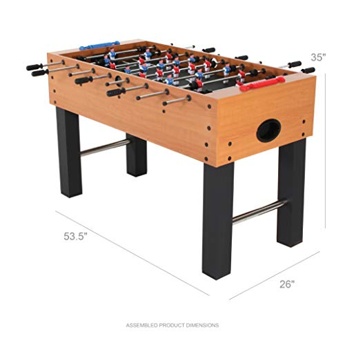 American Legend Charger 52 Foosball Table with Abacus-Style Scoring and Internal Ball Return System
