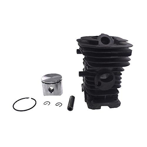 Generic Motor Kit de Motor Cilindro Pistón 40mm parte para Husqvarna 41136137142motosierra