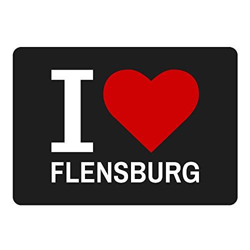 Multifanshop Mousepad Classic I Love Flensburg schwarz