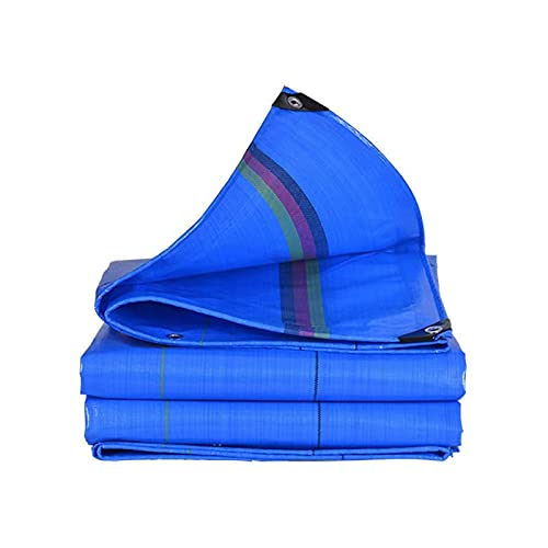 Solamlya Multifuncional Lona Alquitranada con Ojales,Bloqueo UV Impermeable Lona Cubierta Protectora para Flores Mesas Al Aire Libre Patio Mueble Resistente Lona Alquitranada-Azul 2x4m