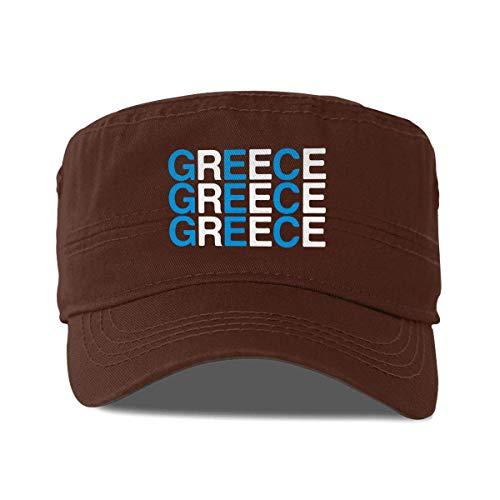 QUEMIN Sombrero Plano Grecia Gorra de béisbol con Parte Superior Plana Gorra de cadete Lavada