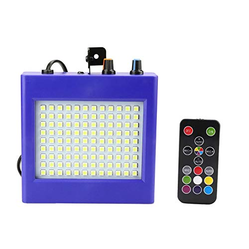 25W LED Stage Lights 108 Patch Strobe Lights Mini Sound Control Lighting Special Effects Flash Lamp for Bar KTV Ballroom