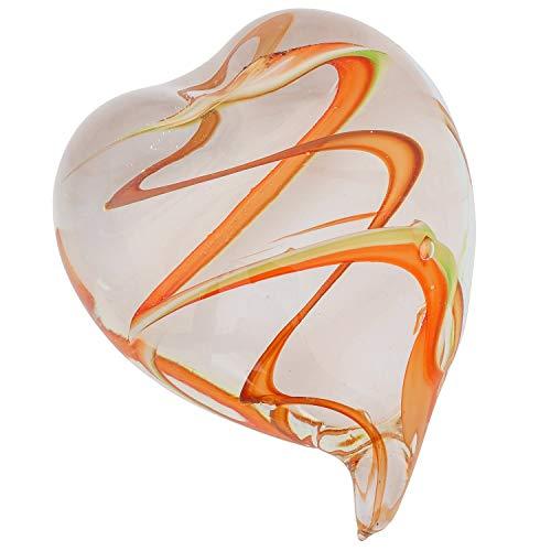 Pisapapeles Figura de Cristal Vidrio corazón Estilo Murano Estilo Antiguo 9cm