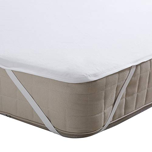 Beedsooth Franela Protector de Colchón Impermeable, Hipoalergénico Cubre Colchón con Esquinas Elásticas - 60x120cm, Blanco