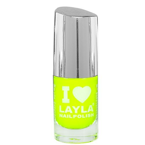 Layla Cosmetics I Love Layla Nagellack - yellow fluo, 1er pack (1 x 0.005 l)