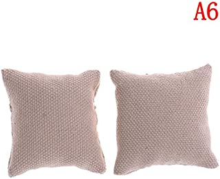 eSunny 2Pcs/Lot 1/12 Pillow Cushions for Sofa Couch Bed Dollhouse Miniature Furniture Toys Without Sofa Chair Newest Must Have Kids Items Gift Ideas My Favourite Superhero Party Decorations