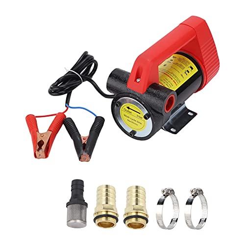 Bomba de transferencia de combustible de 12 V CC, extractor de combustible de hierro fundido eléctrico portátil para accesorios diésel de vehículos pesados