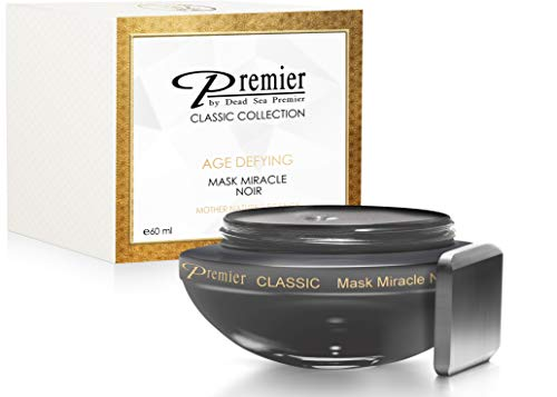 Premier Dead Sea Classic original Miracle Noir Mask, Age defying, detoxifying, hydrating, nourishing, exfoliating , anti oxidant All in one best mask 2.04 Fl oz.