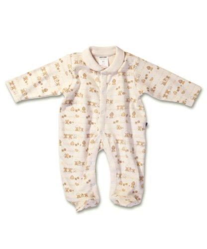 Jacky pyjama Little Friends 321400 knusse onesie pyjama in hoge kwaliteit 100% katoen, super zacht en huidvriendelijk, ecru met all-over print, unisex, verkrijgbaar in maten voor pasgeborenen - leeftijd 18 maanden (50 - 86) 0-1 month cr�me
