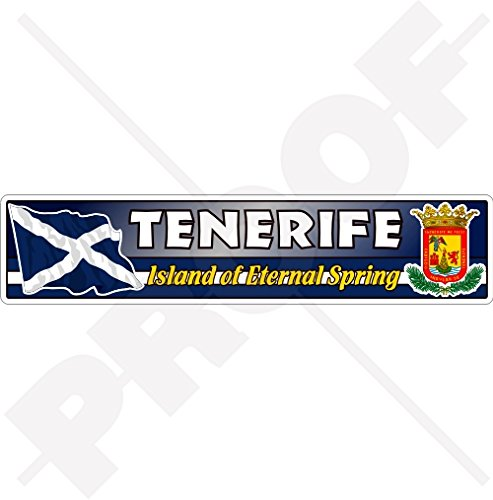 TENERIFE ISLAND Vlag-Coat of Arms CANARY ISLANDS Spanje, Eiland Eternal Spring, Islas Canarias 180mm (7.1