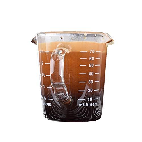 Espresso Shotglas 70ml mit Henkel und Auslauf von AlTaGru