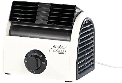 Sichler Haushaltsgeräte Tisch Klimagerät: Leistungsstarker High-Power-Walzen-Tisch-Ventilator VT-113.T, 30 Watt (Walzenlüfter)