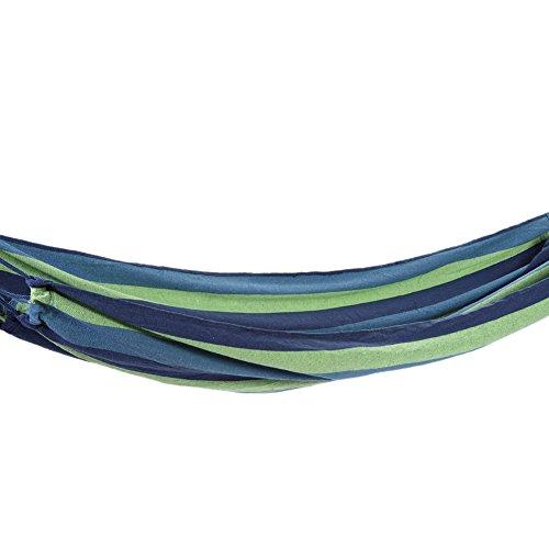 Hamac coton tissu hamac lit de couchage simple suspendu randonnée camping jardin (Couleur : Bleu)