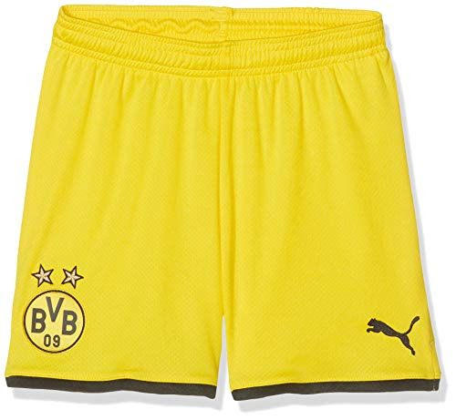PUMA Jungen BVB Shorts Replica Jr, Cyber Yellow Black, 164