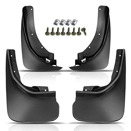 Set of 4 Front and Rear Side Mud Flaps Splash Guards Replacement for 2011-2018...