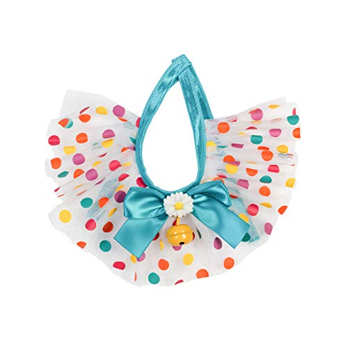 PAWHITS Collar de gato para perro con campana, color lunares, margarita, babero, bufandas, collar y correa para el cuello para suministros de disfraz de mascotas