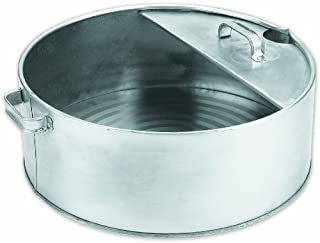 Lumax Silver LX-1710 6 Gallon Drain Pan. Heavy Duty Construction for Rugged Use. The Bright Zinc Galvanized, Resistant Finish Prevents Corrosion