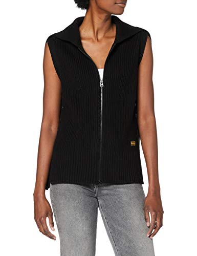 G-STAR RAW Womens Zip Through Collar Cardigan Sweater, dk Black B670-6484, XL