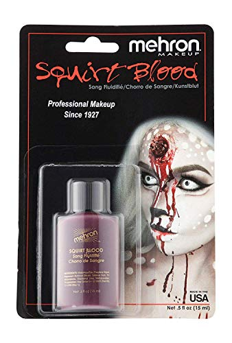 Mehron Makeup Squirt Blood (.5 ounce) (Bright Arterial)