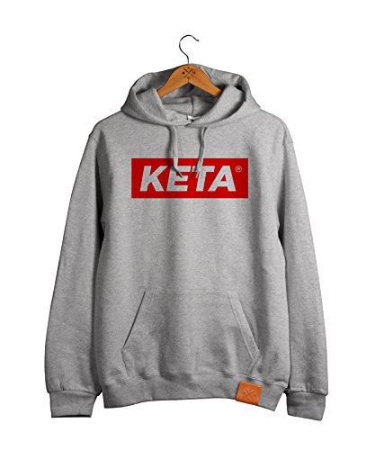 Manufaktur13 KETA - College Hoodie, Kapuzen Pullover in Rough Grey, Hood, Sweater Leder Veredelung (M13) (XL)