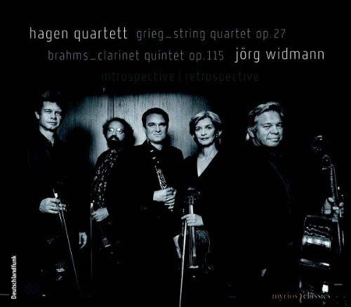 ハーゲン弦楽四重奏団&イェルク・ヴィトマン グリーグ:弦楽四重奏曲 ト短調 Op.27 ブラームス:クラリネット五重奏曲 ロ短調 Op.115 (Hagen Quartett - Grieg & Brahms: Introspective / Retrospective)[SACD Hybrid]