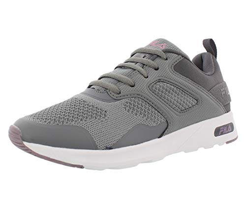 Fila Zapatillas deportivas para correr para mujer con marco de espuma viscoelástica V6, gris (Gris/Púrpura Claro), 39 EU
