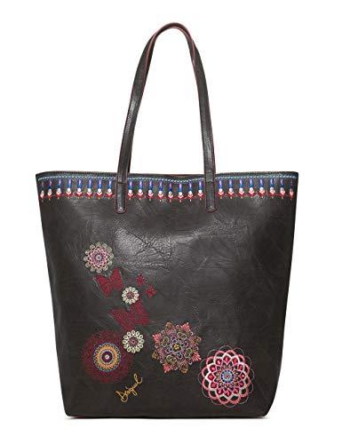 Desigual Bag Chandy Rio Zipper Women - Borse a spalla Donna, Nero (Negro), 12x37x29 cm (B x H T)
