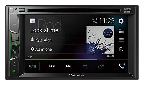 "Pioneer AVH-Z3200DAB 2DIN Media-Receiver , 6,2"" Clear-Resistive-Touchpanel , Bluetooth , DAB+ Digitalradio , Apple CarPlay , WebLink , Freisprecheinrichtung , CD, DVD, und USB, Schwarz, Double Din"