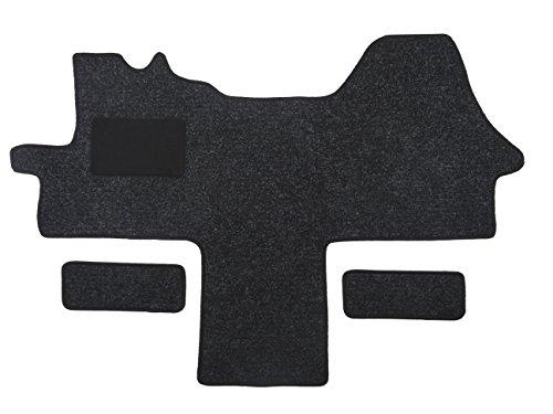 Alpha-Tex Fußmatte 1614 - Autoteppich (1-TLG. + 2 Einstiege in Qualität Robust anthrazit, Umrandung schwarz)