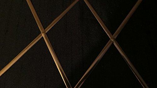 Selbstklebendes Bleiband für Fenster (Gold/Messing) 6mm Band x 5Meter Spule Inklusive Diamant/Rechteck-Vorlage.