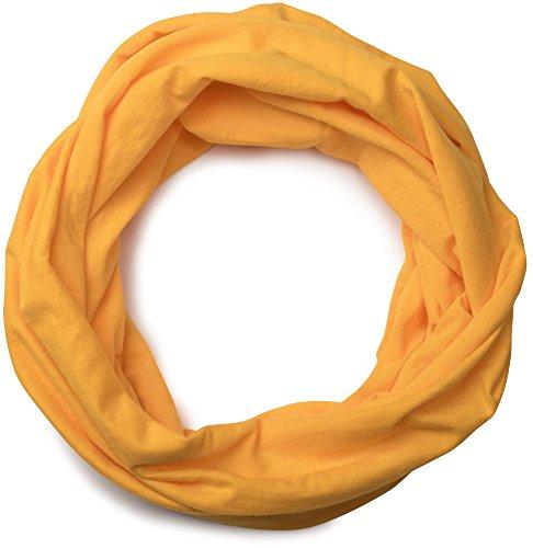 styleBREAKER styleBREAKER Jersey Multifunktionstuch, Schlauchtuch, Stirnband, Haarband, Kopftuch, Loop Schlauchschal, Unisex 01012037, Farbe:Goldgelb