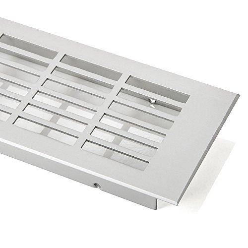 SO-TECH® Rejilla de Ventilación Placa del Puente Paneles de Ventilación Malla perforada Aluminio EV1 - Angular 500 mm