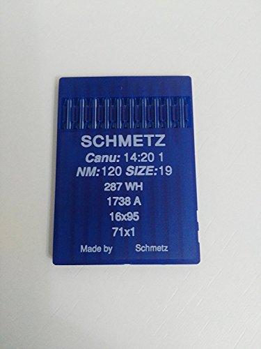 Agujas Schmetz para maquinas de Coser 1738 industriales DBx1 Redondas Originales (80)