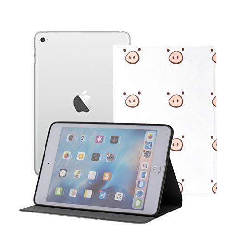JEOLVP IpadMiniCaseKidsBoys Cartoon Funny Pink Pig Nose IpadMiniSmartCase Ipad Mini 1/2/3 Auto Sleep/wake With Multi-angle Viewing For Ipad Mini 3/ Mini 2/ Mini 1