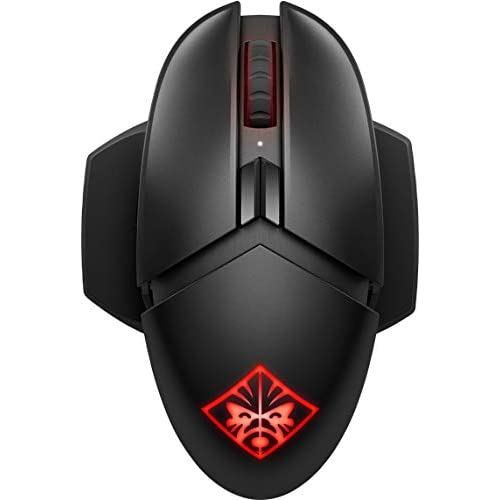 HP - Gaming Omen Photon Mouse Gaming Wireless, Ricarica Qi Wireless, 11 Tasti Programmabili, Tempo Risposta 0.2 ms, DPI da 100 e 16000, Sensore Ottico PixArt PAW3335, LED RGB Personalizzabili, Nero
