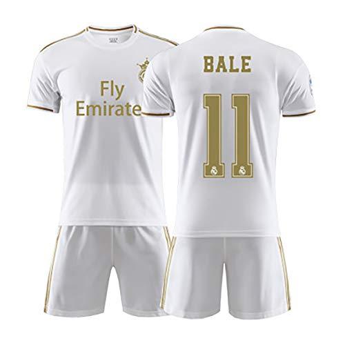 Ronald0# 7 Bale # 11 Hazard # 23 Herren Fußballanzug Madrid Fußball Trikot T-Shirt Shorts Kits Heimtrikots für die Saison 2019-2020 (Kinder)-NO.11-20(120~130)