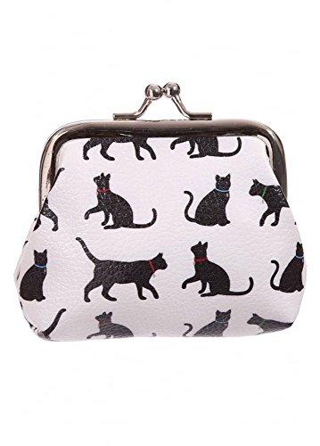 Geldbörse/ Portemonnaie Katzen (Clipbörse) für Kinder, schwarz-weiß