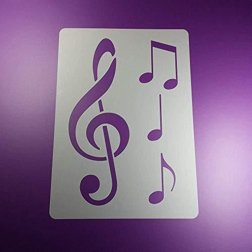Schablone Notenschlüssel Musik Note 3 Noten - BA87